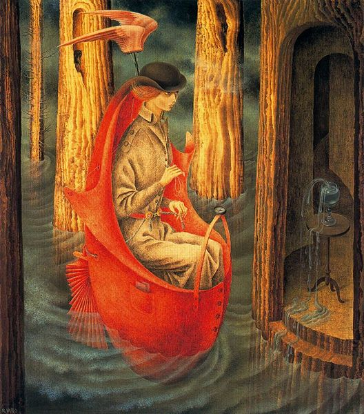 Remedios Varo, Exploration of the Source of the Orinoco River, 1959