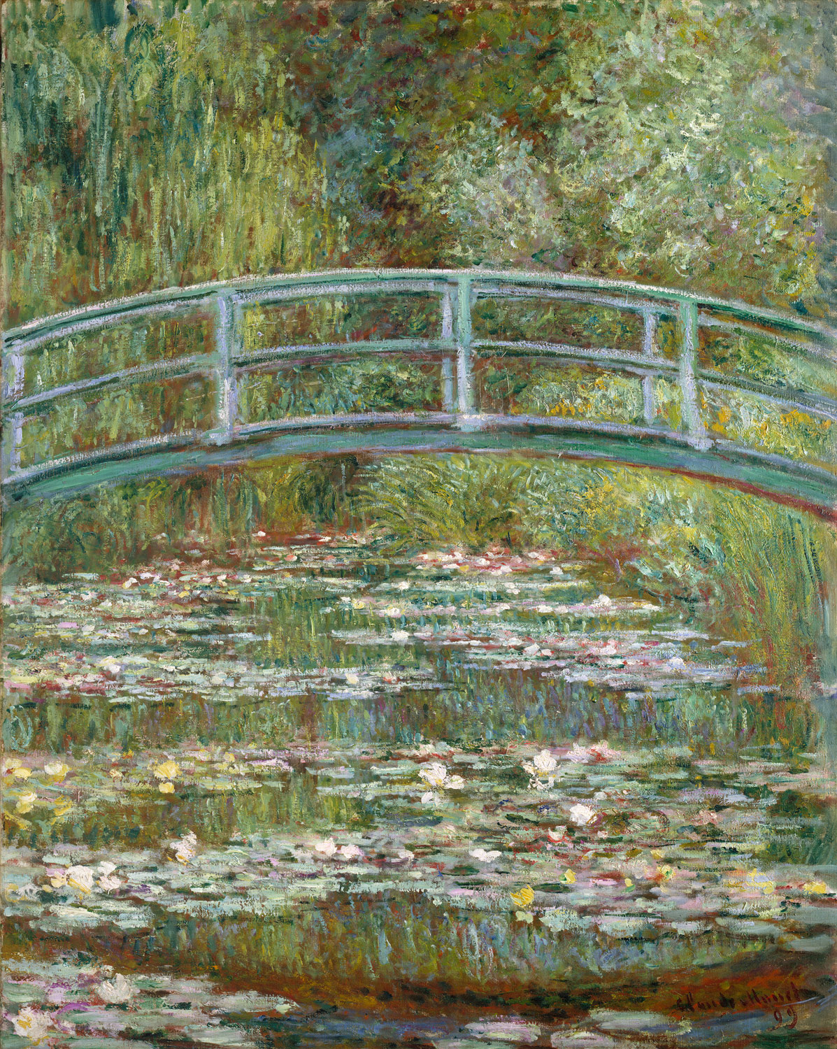 bridge-over-a-pond-of-water-lilies