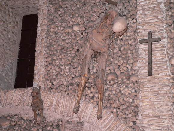 The Chapel of Bones in Evora in Portugal
