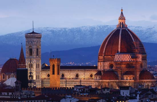Cathedral of Santa Maria del Fiore (the Duomo) in Florence, constructed between 1296