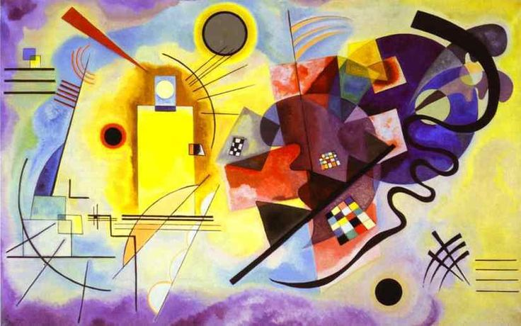 yellow-red-blue by vassily kandinsky