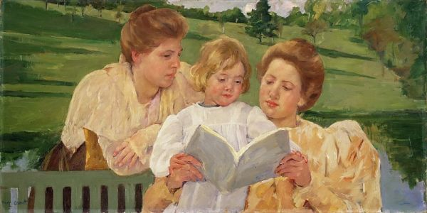 mary-stevenson-cassatt-american-1844-1926-family-group-reading-philadelphia-museum-of-art-painting
