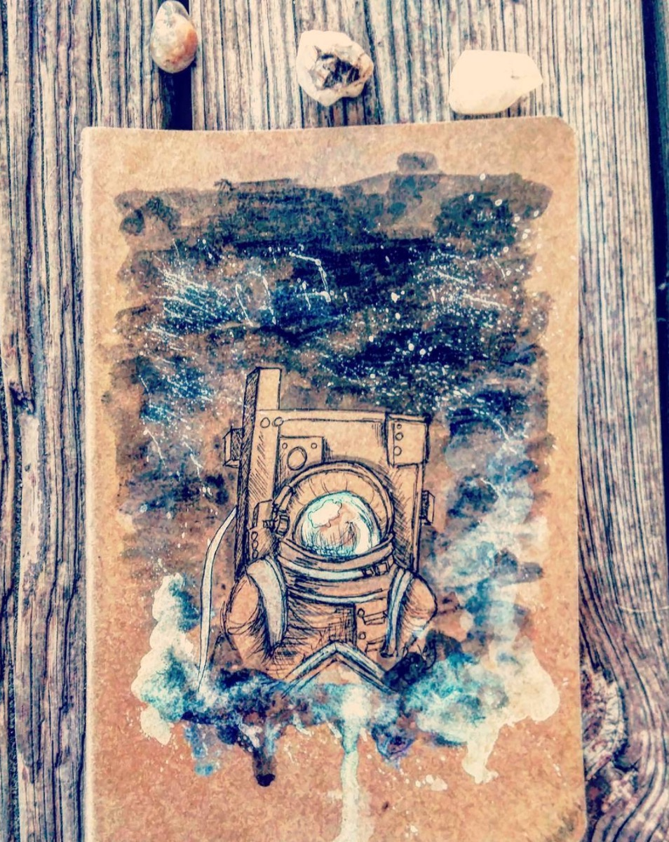 astronaut sketchbook