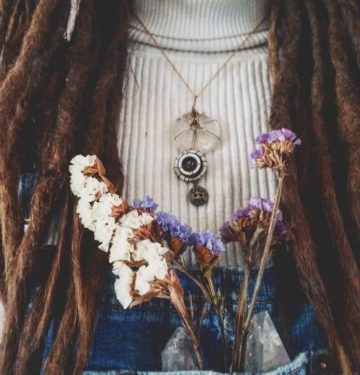 oh miss bailey flowers and dreadlocks