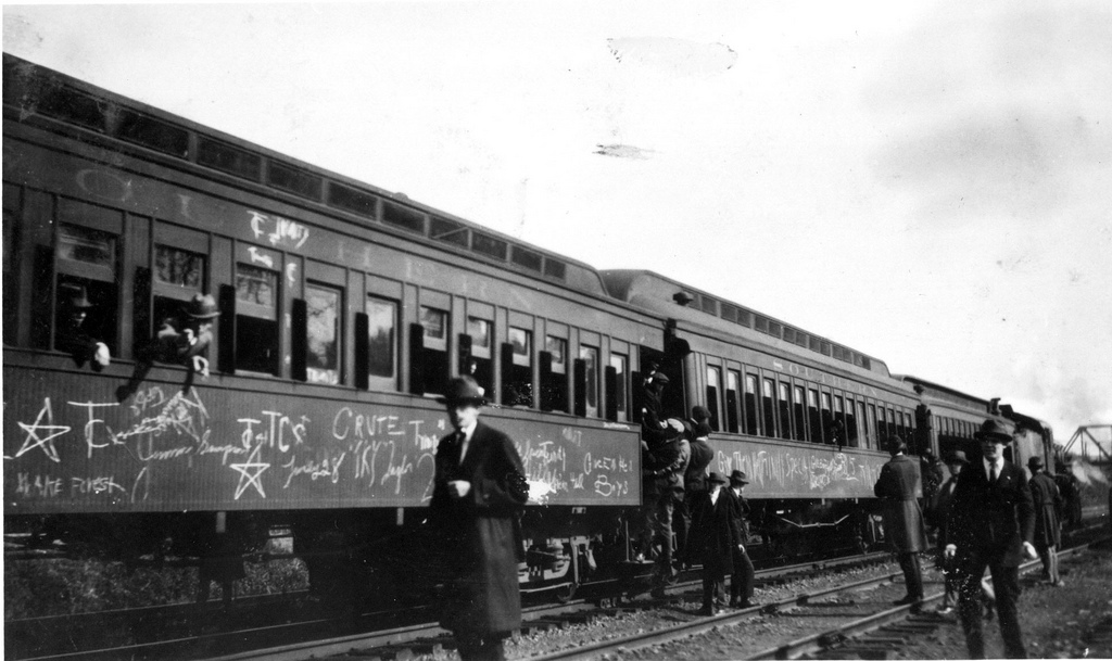 train graffiti from the 1920s