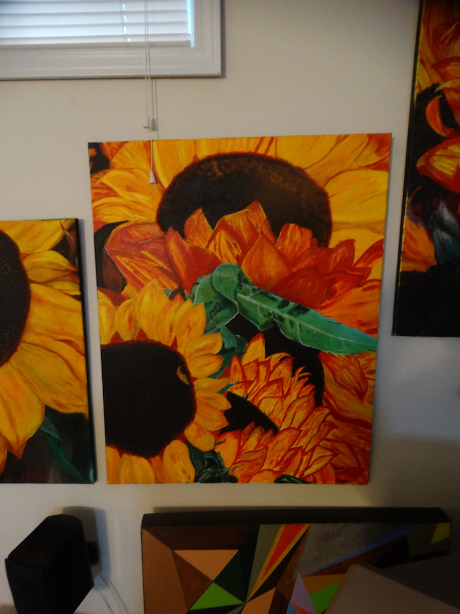 bryan rogers sunflowers painting
