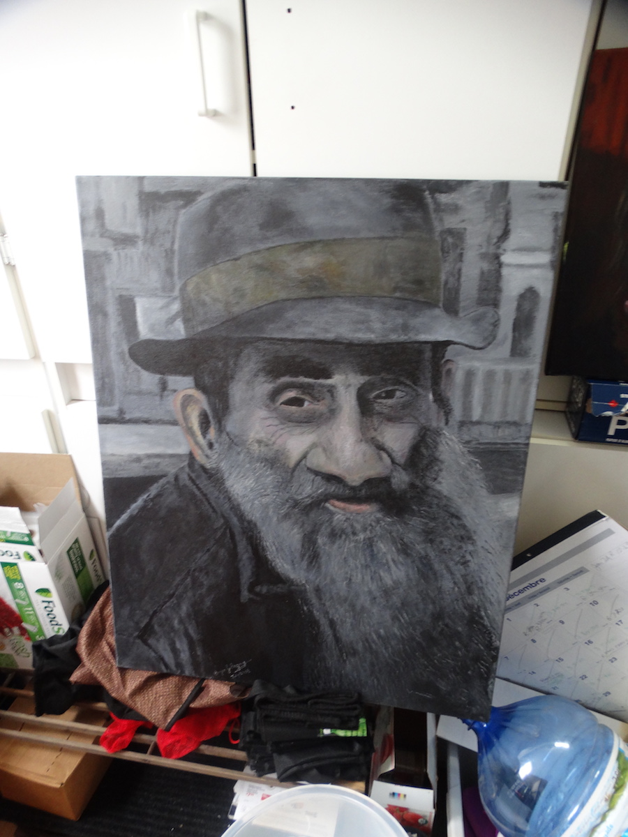 homeless guy portrait