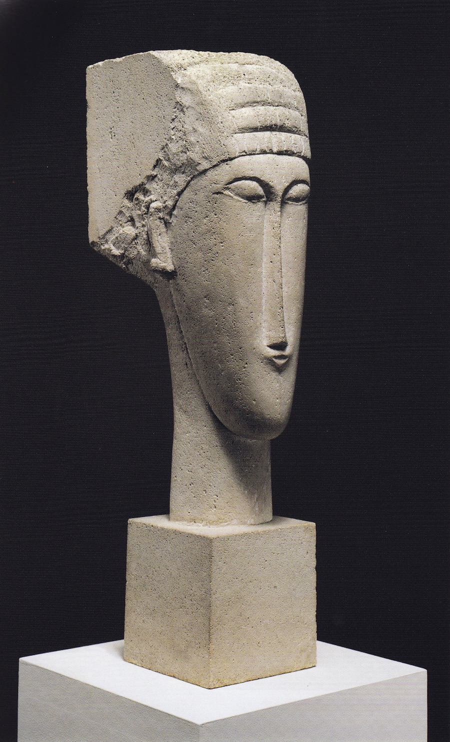 modigliani sculpture limestone head