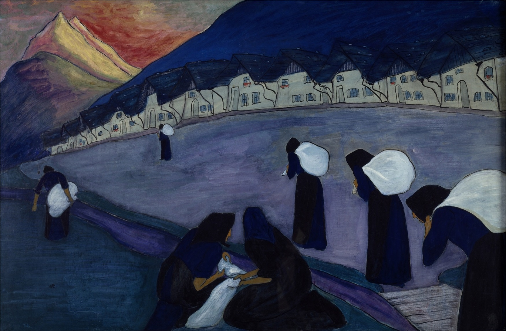 The Black Women, by Marianne Werefkin (1860-1938), gouache on cardboard, 1910