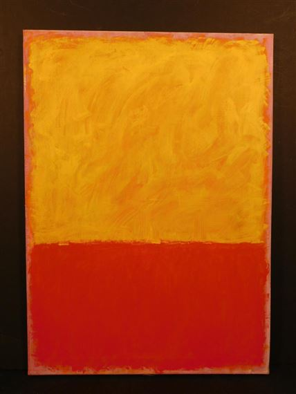 color field red and yellow 1968