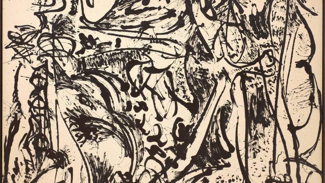 pollock dark paintings