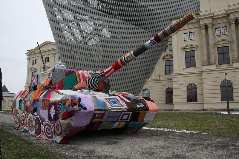 yarn bomb tank