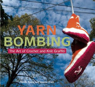 yarn bombing sneakers