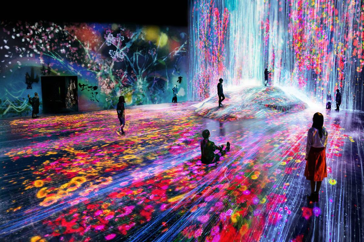 teamlab borderless tokyo official site mori building digital art