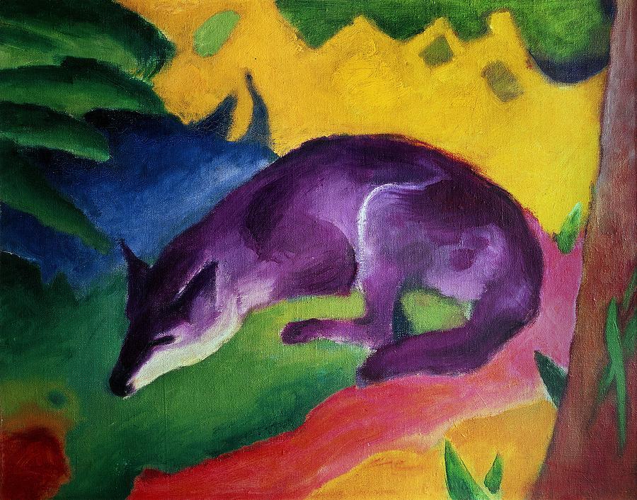 blue-fox-1911-oil-on-canvas-franz-marc
