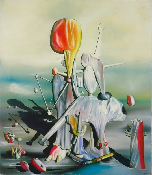 Yves Tanguy, Through Birds, Through Fire and Not Through Glass, 1943