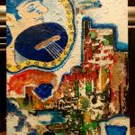 Nake Ringo playing guitar - 22x31 acrylic on bd